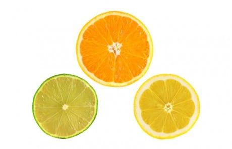 Orange Limette Zitrone Ganze Scheiben