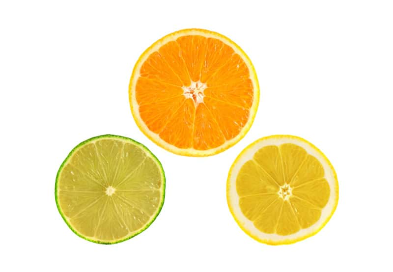 Orange lemons slices
