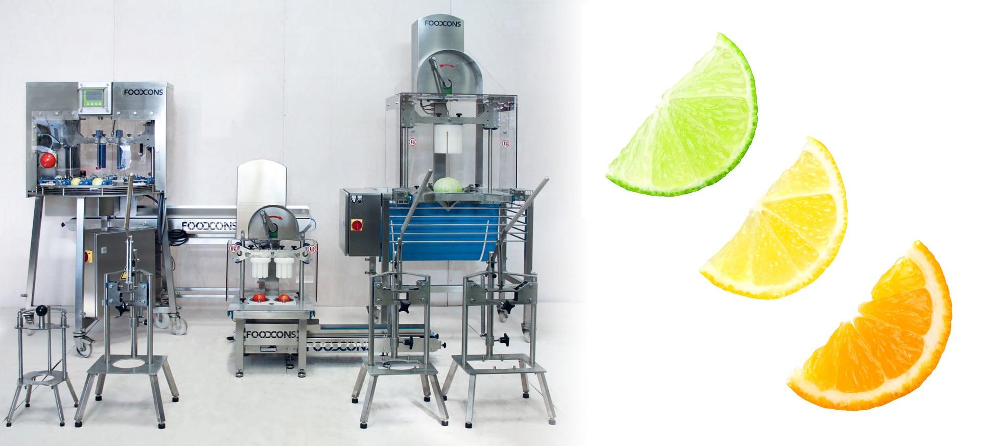 F3000 halbierte Zitronen-, Orangen- und Limettenscheiben